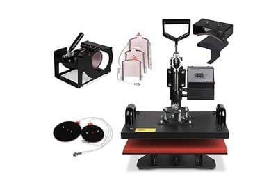 OrangeA Heat Press 6 in 1 15X15Inch Swing Away Multifunctional Heat Press