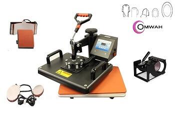 OrangeA Heat Press 5 in 1 Swing Away Heat transfer Press Machine