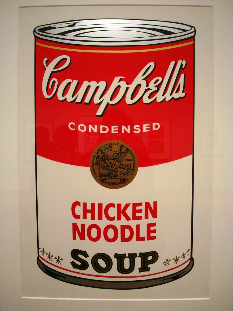 Warhol's Campell's Soup screen print